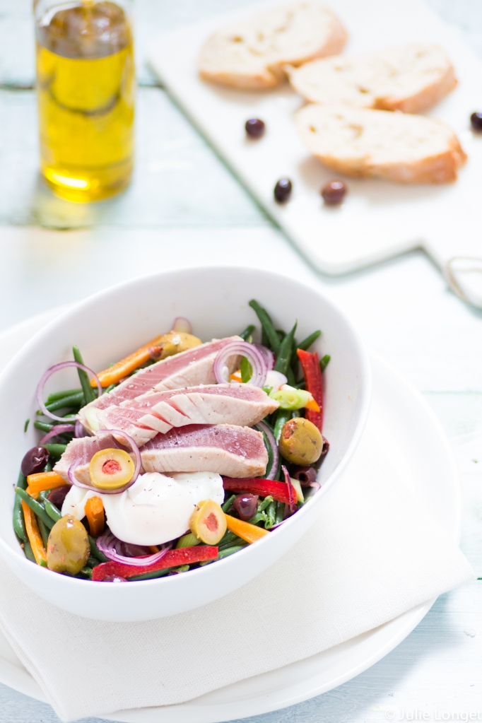 Salade de haricots verts au thon frais