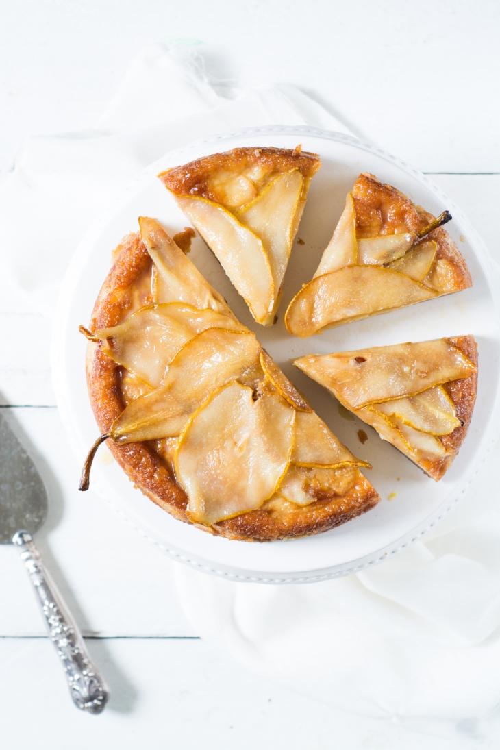 Fondant aux poires, vanillé et citronné