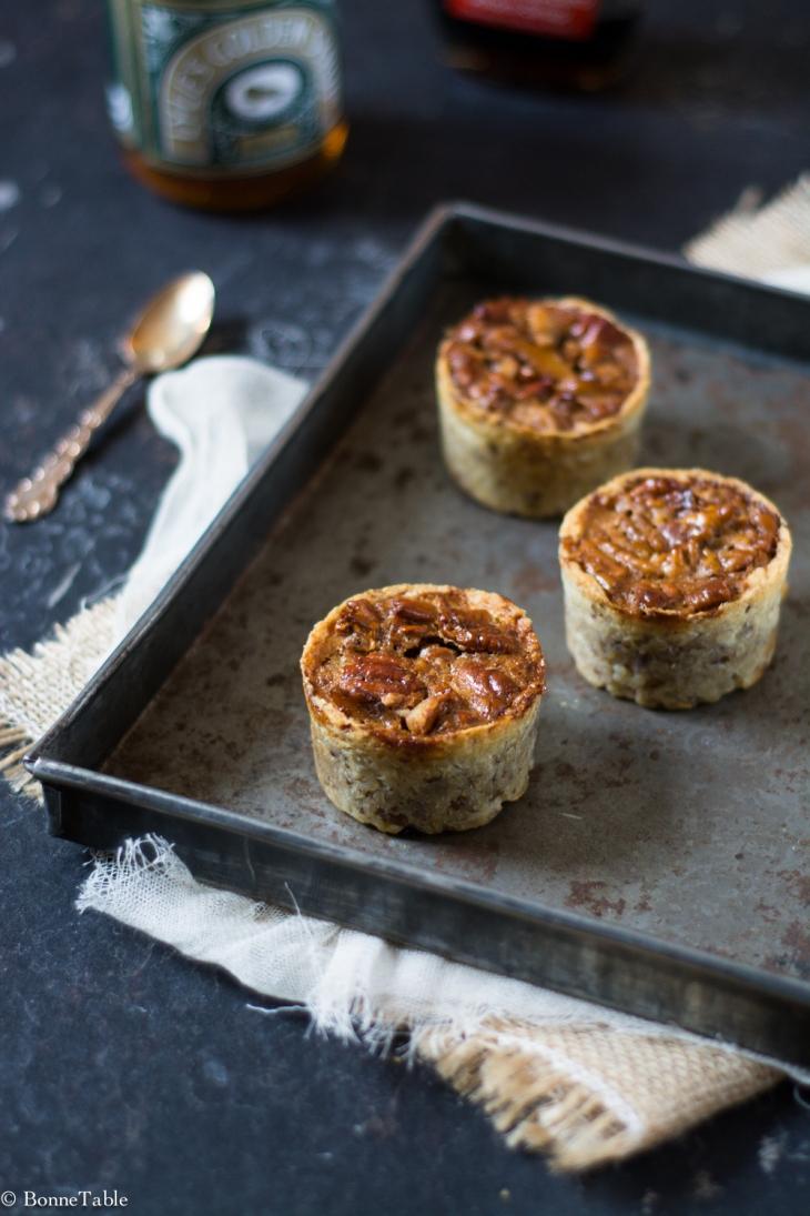 Mini tarte fondante aux noix de pécan et golden syrup