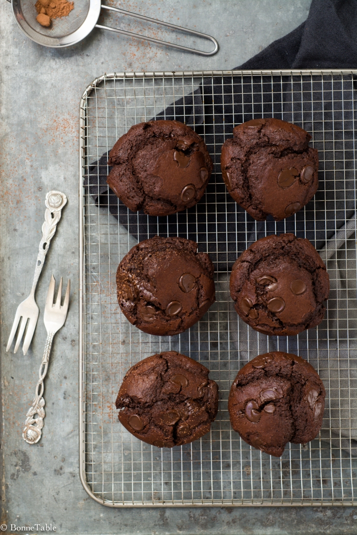 Muffin au chocolat noir
