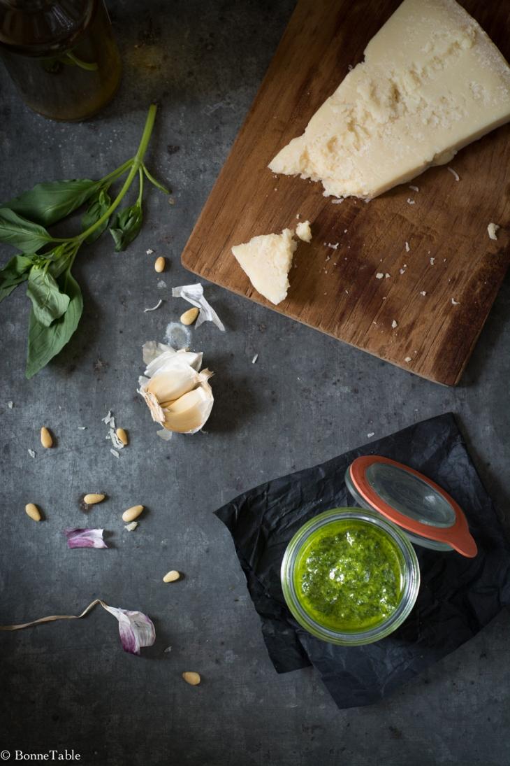 Pesto basilic pistaches roquette