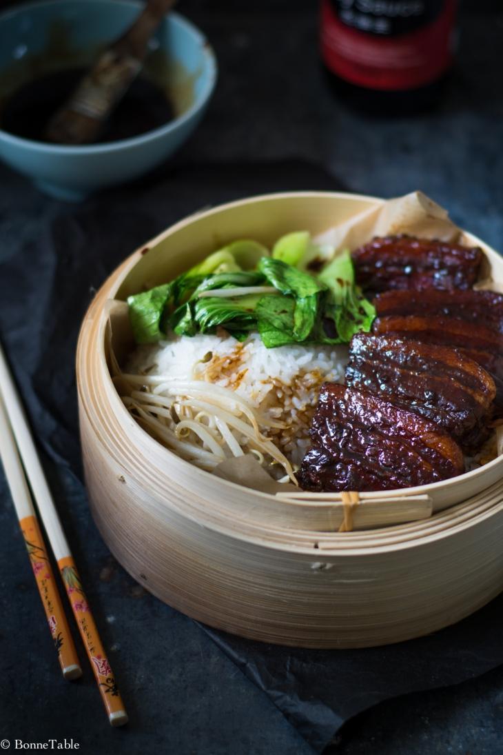Poitrine de porc braisé au vin de riz